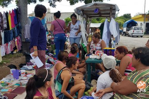 Actividad de Sensibilización Social en un tianguis del sur de la ciudad de Mérida