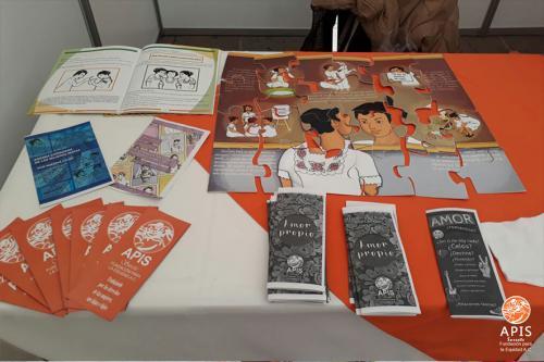 Stand de APIS Sureste en Feria de la Salud en San Luis Potosí